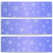 Banners with snowflakes — Stock Vector