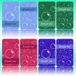 Set of cards with bubbles — Stock Vector