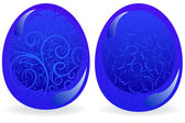 Blue easter eggs — Stock Vector
