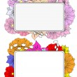 Banners with hand drawing flowers — Vector de stock #22079467