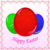 Greeting easter card — Stock Vector