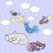 Animals with speech bubbles — ストックベクター #22218113