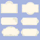 Set of doodle frames — Stock Vector