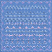 Set of white lace borders — ストックベクタ