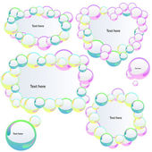 Banners with bubbles — Stock Vector