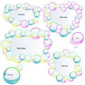 Banners met bubbels — Stockvector