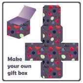 Gift box scheme — Stock Vector