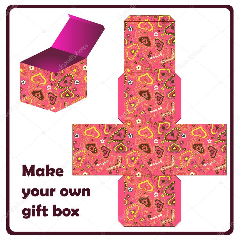 Подарункові коробки схема - Стоковий вектор Marishayu #22542343
