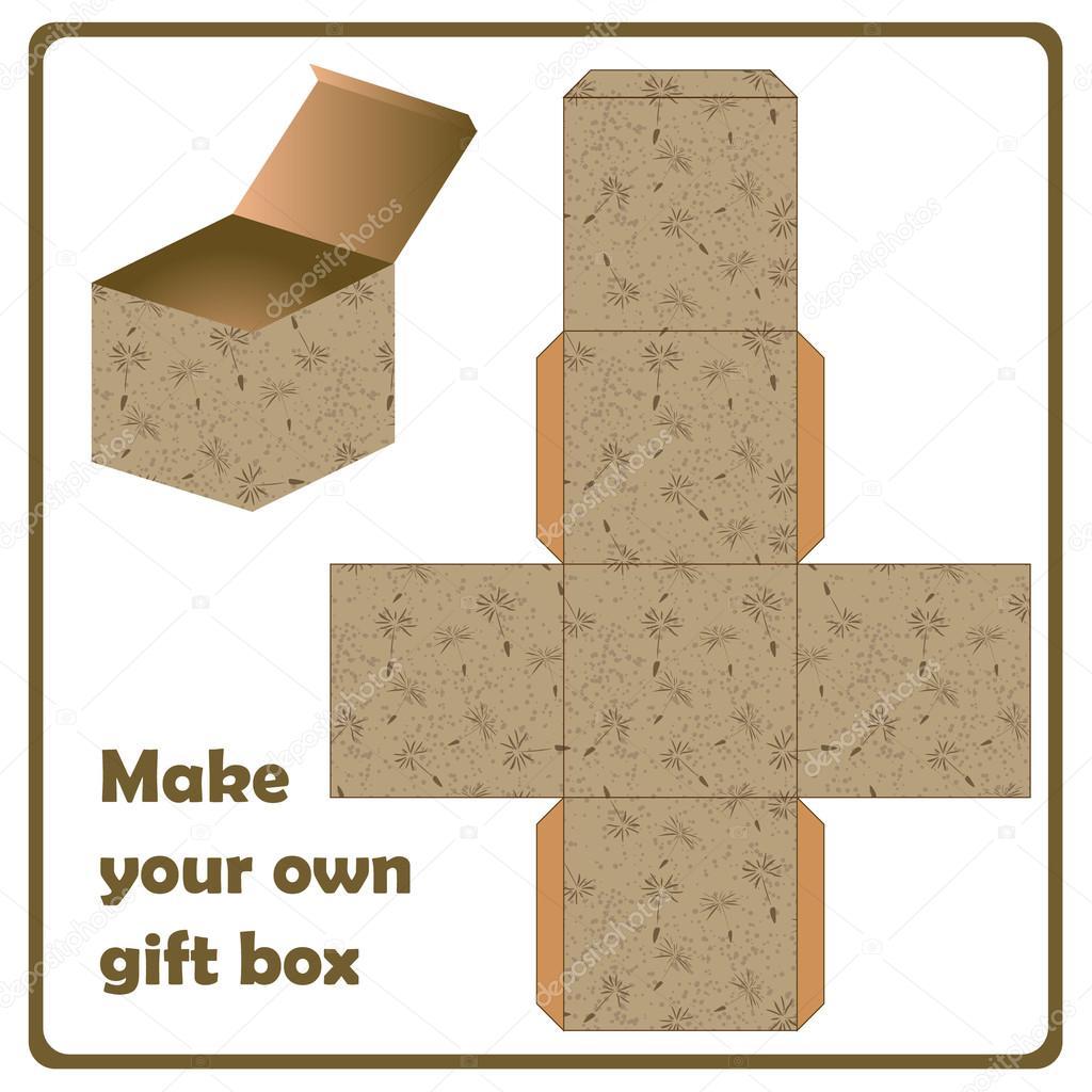 Коробка для подарка схемы
