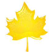 Maple leaf — Stock Vector