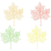 Maple leaves — Vector de stock