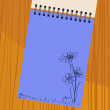 Notebook with flowers — Stockvektor
