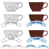 Design elements fo cafe — Vector de stock