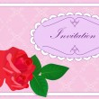 Invitation with roses — Stock Vector