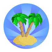 Tropic island — Stock Vector