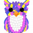 Stock Vector: Colorful owl