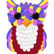 Stock Vector: Colorful owlet