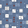 Pattern with dices — Stock vektor