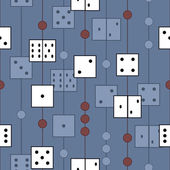 Pattern with dices — Stock Vector