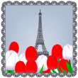 Eiffel tower photo — Stock Vector