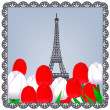 Eiffel tower photo — Stock vektor