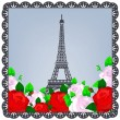 Stock Vector: Eiffel tower photo