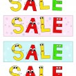 Stock Vector: Sale banners