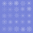 Stock Vector: Set of snowflakes