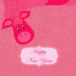 Stock Vector: New year background with hourse