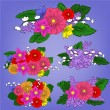 Set of bright bouquets — Imagen vectorial