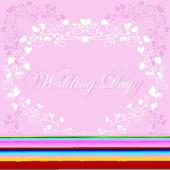 Svatební pozadí — Stock vektor