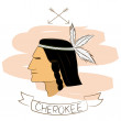 Stock Vector: Cherokee