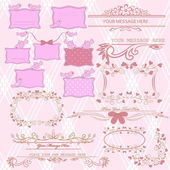 Set di banner vintage — Vettoriale Stock