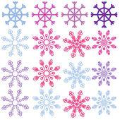 Flocos de neve — Vetorial Stock