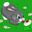 Cute bunny — Vector de stock #33041351