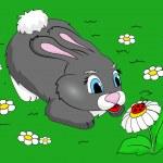 かわいいウサギ — ストックベクタ