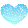 Heart with snowflakes — Stockvectorbeeld
