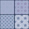 Set of blue star patterns — Stock Vector #48664387
