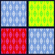 Set of patterns with rhombuses — Stock Vector #48666715