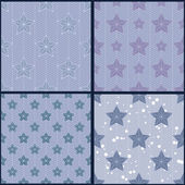 Set of blue star patterns — Stock Vector
