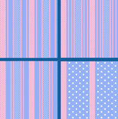 Pastel striped star patterns — 图库矢量图片