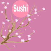 Sushi background — Stock Vector
