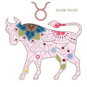 Taurus vintage — Stock Vector