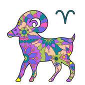 Znamení zvěrokruhu beran — Stock vektor