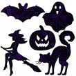 Halloween drawing silhouettes — Stock Vector #49984453