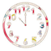 Vintage clocks — Stock Vector