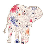 Vintage elephant — Stock Vector