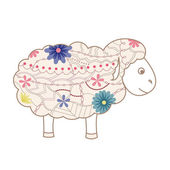 Vintage sheep — Vector de stock