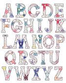 Alfabeto vintage — Vector de stock