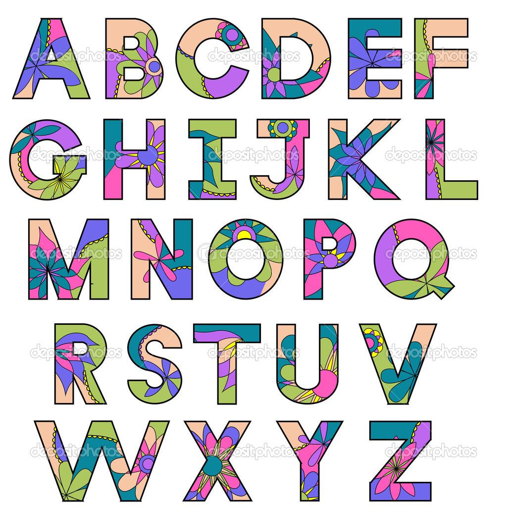 多彩字母表 — 图库矢量图像08